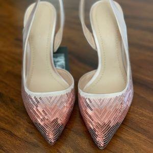 Zara sequined ombre pumps